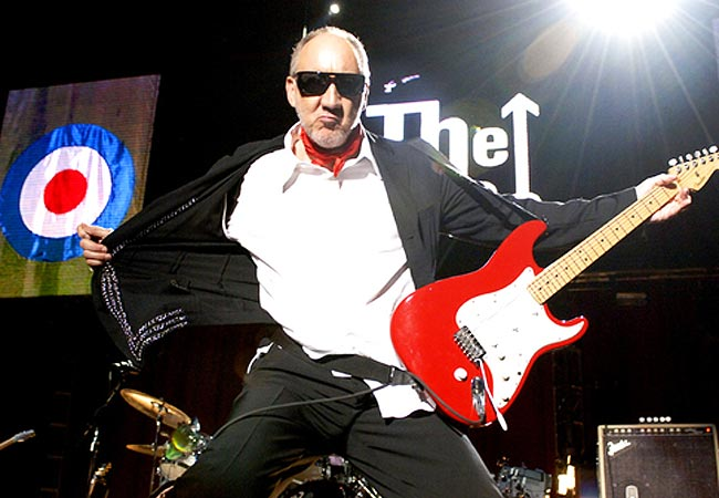 O guitarrista Pete Townshend, líder do The Who: Gibson customizada que fez história