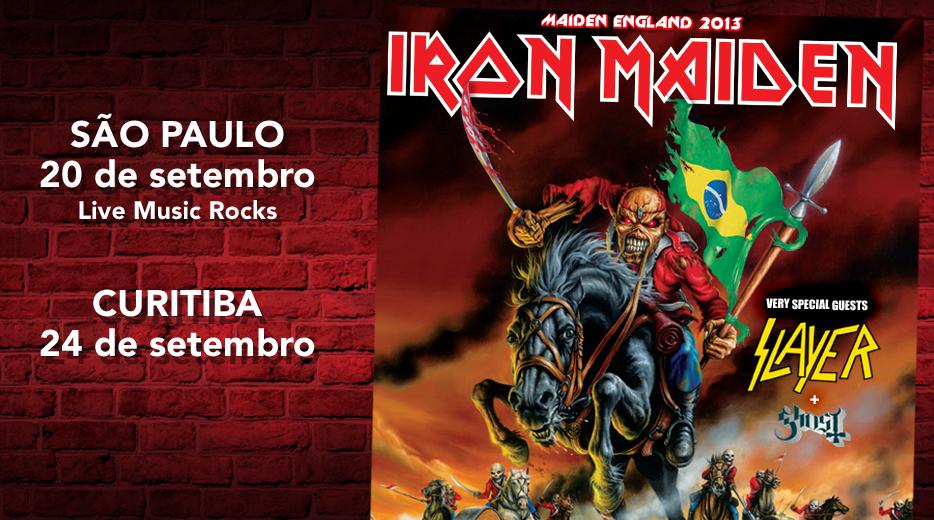 Iron Maiden confirma show em São Paulo