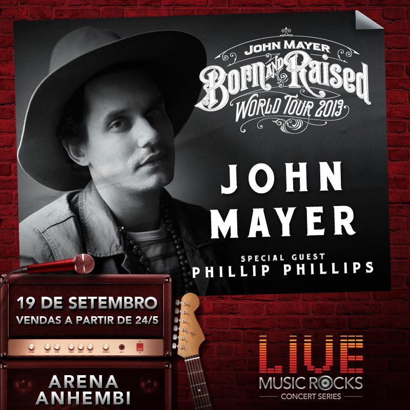 John Mayer anuncia show em São Paulo