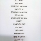 Setlist The Offspring