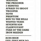 Setlist Iron Maiden