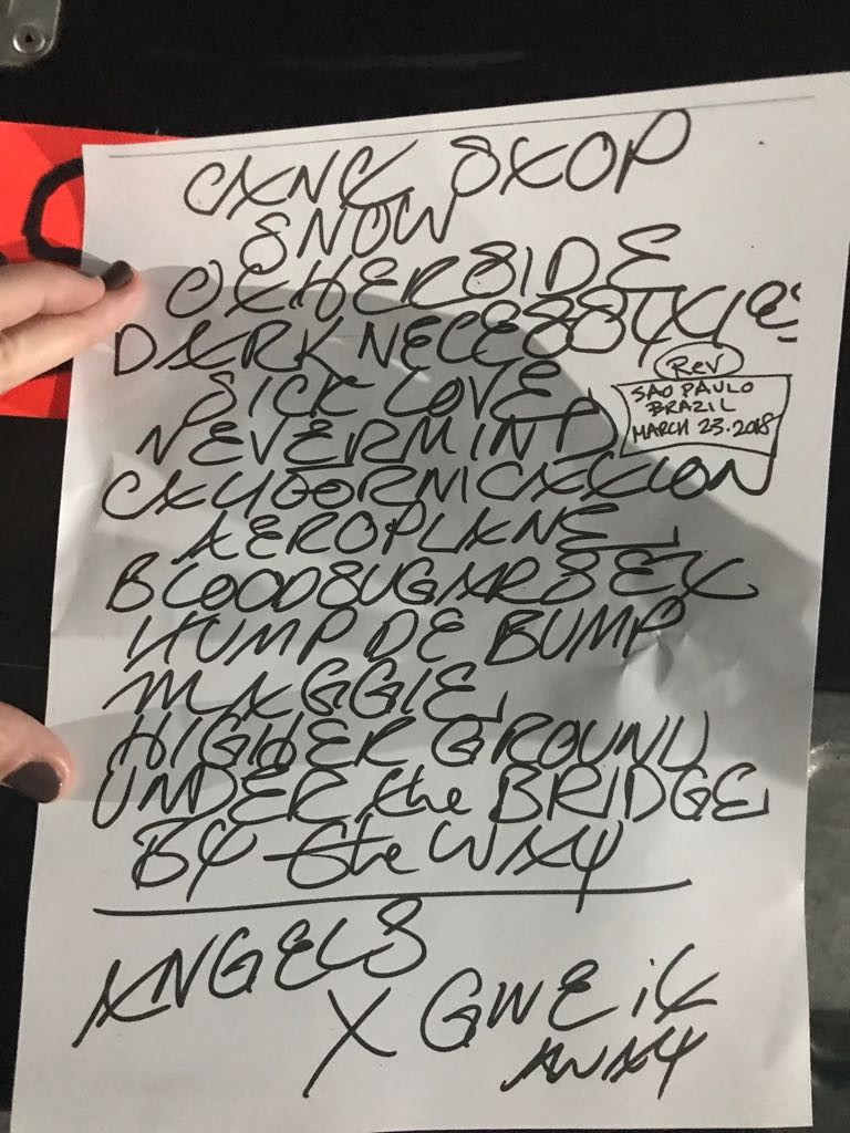 tour red hot chili peppers 2018